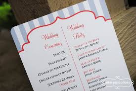 simple wedding ceremony program awesome exle of a wedding program pictures styles ideas