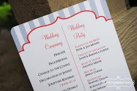 wedding programs exles simple wedding programs exles blue pintere diy wedding