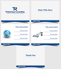professional modern powerpoint design for tina robertson by