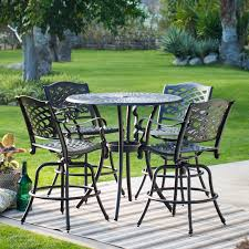 Sorrento Patio Furniture by Belham Living Sorrento Bar Height Swivel Patio Dining Chairs Set
