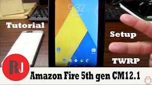 how to install cm12 1 on the amazon fire 5th gen tablet youtube