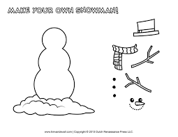 simple snowman template virtren com