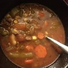 ground beef vegetable soup recipe allrecipes com