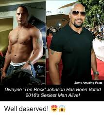Dwayne Johnson Meme - some amazing facts dwayne the rock johnson has been voted 2016 s