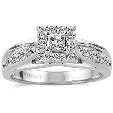 2 carat white gold engagement ring keepsake melody 1 2 carat t w certified 10kt white gold