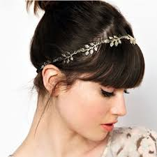 hair online india fashion metal leaf headband chain elastic hair band