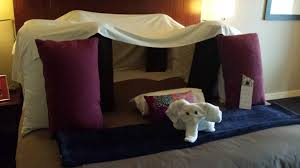 asked hotel to build pillow fort upon check in hotel delivers