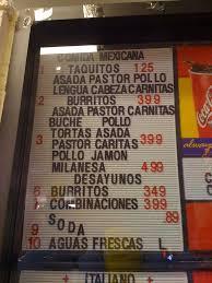 El Zocalo Mexican Grille by Menu At Mama Mia Panaderia U0026 Market 731 S Arizona Ave