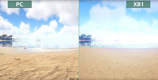 ark survival evolved pc vs xbox one graphics comparison oc3d net