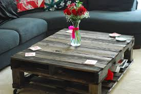 beautiful rustic coffee table centerpiece from red flower bouquet