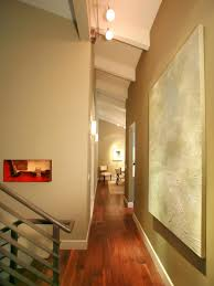 House Design Magazines Photos Hgtv Contemporary Hallway With Vibrant Wall Art Arafen