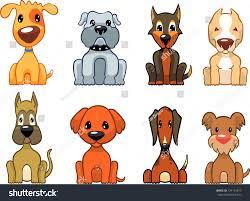 types of dogs cartoon illustration different types dogs stock vector 134172617