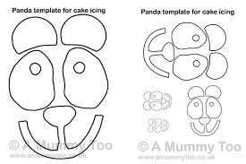 panda cake printable template mummy
