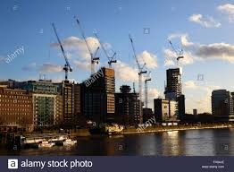 london changing skyline construction sites and cranes stock photo