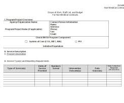 printable scope of work template