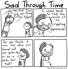 Depressed Face Meme - sad through time by completely serious comics