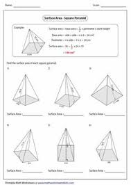 prisms and cylinders surface area worksheets math aids com