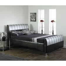 White Leather Sleigh Bed White Leather Diamond Bed White Leather Diamond Bed Suppliers And