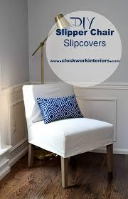 slipper chair slipcovers diy slipper chair slipcovers clockwork interiors