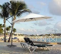 Palm Tree Patio Umbrella Tilt Patio Umbrella Chili Aluminum Solar Crank 9 Ft Durable Frame