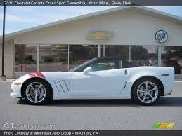 2010 corvette interior arctic white 2010 chevrolet corvette grand sport convertible