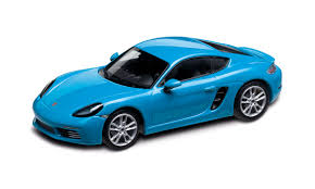 miami blue porsche porsche 718 cayman s 982 miami blue 1 43 718 model cars