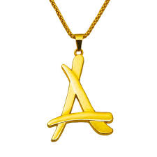 alumni chain 2017 newest superstar alumni a letter pendant necklace 18k real