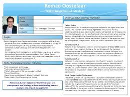 Powerpoint Resume Template One Pager Resume Remco Oostelaar