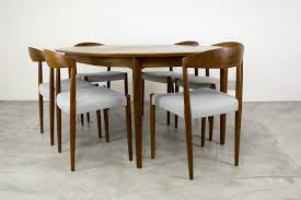 danish teak dining table with extension leaf by arne vodder 1960s