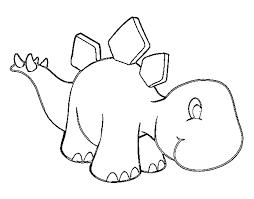 coloring page baby stegosaurus color online coloringcrew 539492