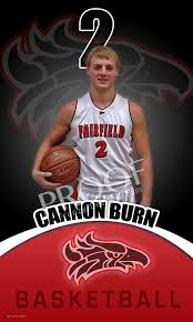 high school senior banners banner fairfield high school basketball senior cannon burns