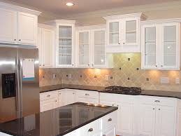 kitchen colors with white cabinets and black appliances modern