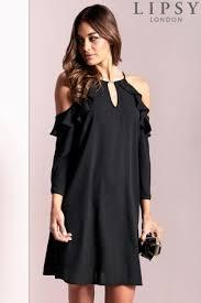 black dress uk buy women s dresses black ruffle from the next uk online shop
