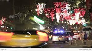 barcelona christmas street lights decorations and stock video