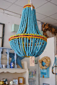 Beaded Turquoise Chandelier Blue Beaded Chandelier Get It At Uptown Country Home Pinterest