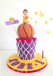 basketball cake topper sweet cakes by milbreé moments s la lakers basketball