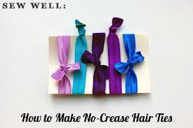 no crease hair ties no crease elastic hair ties sew well