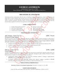collection of solutions sample resume mechanical engineer about