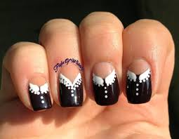 nails designs 2013 black and white