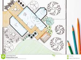 backyard plan architect backyard design garden landscape plans for stock photo