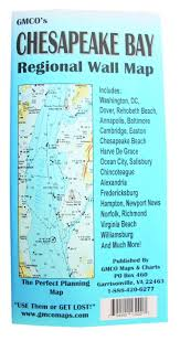 Chesapeake Bay Map Amazon Com Adc 13400 Waterproof Regional Wall Map Of The
