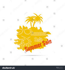 summer sale design template palm tree stock vector 302745476