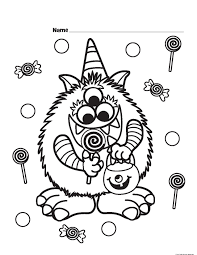 halloween candy on halloween coloring pages u2013 festival collections