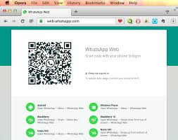 chat with whatsapp web using opera for computers opera india