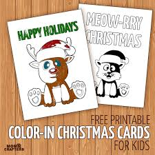 free printable color in holiday cards for kids moms and crafters