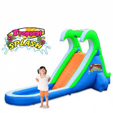 Backyard Water Slide Inflatable by Tropical Splash Inflatable Water Slide By Blast Zone