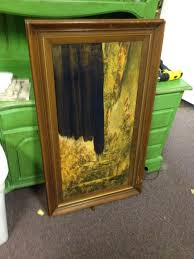 Repurposed Furniture Before And After by Repurposed Framed Art Into A Chalk Board