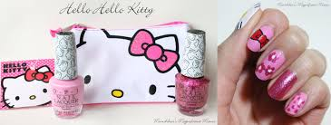 munchkin u0027s magnificent manis hello hello kitty nail art tutorial
