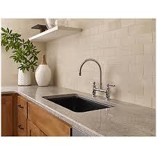polished chrome port haven bridge kitchen faucet gt31 tdc