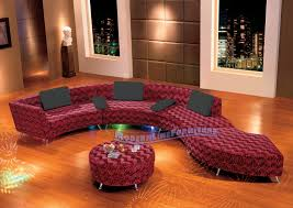Leather Curved Sectional Sofa by Modern Line Furniture Commercial Furniture Custom Made